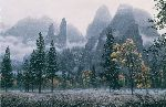 Cathedral Snow - Yosemite by wilderness artist Stephen Lyman