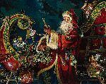 Preparing for the Journey - Santa Claus by fantasy artist Dean Morrissey