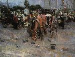Carriages in Front of Plaza House by Richard Schmid