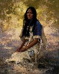 Woman of the Sioux by western artist Howard Terpning