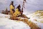 Signals In the Wind by western artist Howard Terpning