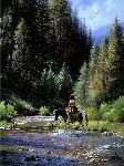 Shallow Crossing by western artist Martin Grelle