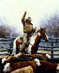The Expert - Cowboy by western artist Martin Grelle