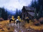 Muddy Morning by western artist Martin Grelle
