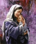 Mother and Child - Mary and Jesus by Christian artist James Seward