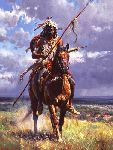 Fires Burned Out by western artist Martin Grelle