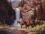 Spirit of Pi'tamaka - Running Eagle by western artist Martin Grelle