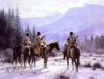Stories of Winter by western artist Martin Grelle