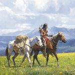 Going to Trade by western artist Martin Grelle