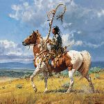 Crooked Lance by western artist Martin Grelle