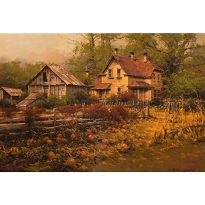 American Pioneer Spirit - old farm site by artist Bruce Cheever