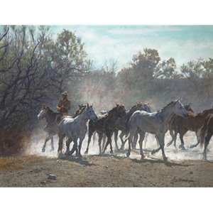 Wichita Work - Horse herd by Ragan Gennusa