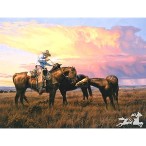 A Gentle Hand horse whisperer by western artist Tim Cox