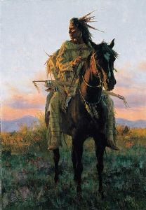Last Rays of Sun print/collector book Spirit of the Plains People by Howard Terpning