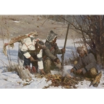 Assiniboine Hunters by Z. S. Liang