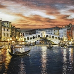 Rialto Bridge Venice by Rod Chase