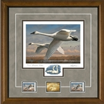 2016- 2017 Federal Duck Print EXECUTIVE EDITION - Trumpeter Swans by Joe Hautman