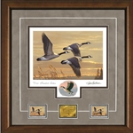2017-2018 Federal Duck Stamp Print PRESIDENT'S EDITION - Geese at Sunset by James Hautman