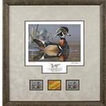 2019-2020 Federal Duck Stamp EXECUTIVE EDITION - Wood Duck and Decoy by Scot Storm
