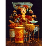 Piscatorial Percussionist by artist James Christensen