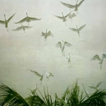 Egrets of the Sacred Grove by Robert Bateman