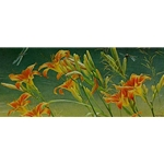 Day Lillies and Dragonflies by Robert Bateman
