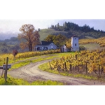A Taste of Heaven by wine country artist June Carey