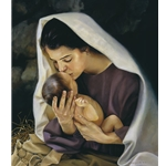 She Shall Bring Forth a Son - Mary with infant Jesus by Liz Lemon Swindle