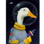 Space Cadet  - Duck astronaut by humor artist Will Bullas