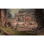 Once Upon a Time - Pioneers Cabin by western artist John Buxton