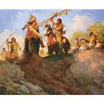 Sunset for the Comanche by western artist Howard Terpning