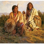Medicine Shields of the Blackfoot by western artist Howard Terpning