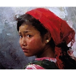 Wa Girl - portrait of young girl by Chinese American artist Mian Situ