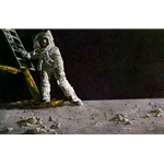 The Great Moment - Man walking on moon by Paul Calle