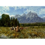 In the Valley of the Grand Tetons by artist Paul Calle