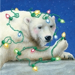 The Northern Lights - decorated Polar Bear by fantasy artist Will Bullas