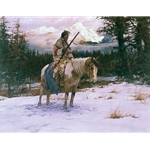 The Lonely Sentinel by western artist Howard Terpning
