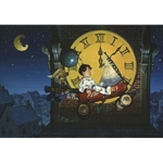 A Sudden Gust (boy in wagon flying past clock tower) by fantasy artist Dean Morrissey