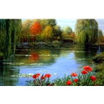Fall Reflections - Giverny by Peter Ellenshaw
