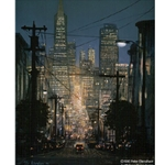 The Glow of San Francisco by Peter Ellenshaw