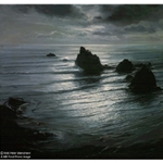 Seascape by Night by Peter Ellenshaw