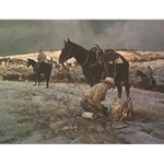 Beating the Chill Factor - Cowboys by artist Ray Swanson