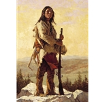 Long Trail Ahead by western artist Howard Terpning