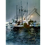 Trawler in Home Port by Nita Engle
