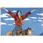 Welcome Home by cowgirl artist Donna Howell-Sickles