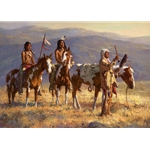 Grandfather Prays to Sun by western artist Howard Terpning