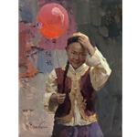 The Red Balloon by Chinese American artist Mian Situ