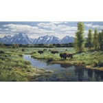 Icons of the West - Bison by wildlife artist Robert Peters