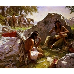 Hard Trails Wore Out More Than Ponies by western artist Howard Terpning