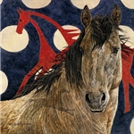 The Horse Tipi by camouflage artist Judy Larson